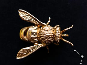 Honey Bee - Pendant - Vessels in Natural Bronze