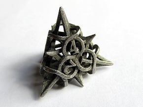 Thorn d4 in Polished Bronzed Silver Steel