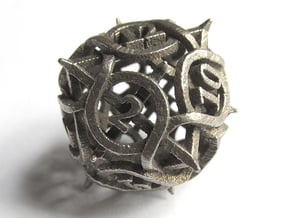 Thorn d12 in Polished Bronzed Silver Steel