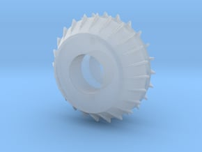 1/25 finned brake drums in Smooth Fine Detail Plastic