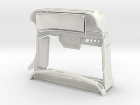 WWII Military Hard Body 1/8 like Unimog U404S in White Natural Versatile Plastic