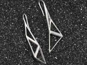 sWINGS Structura Earrings in Polished Silver