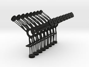 Hudson Lamp Diffuser Stand-offs in Black Natural Versatile Plastic