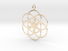 Seed of Life 45mm in 14k Gold Plated Brass