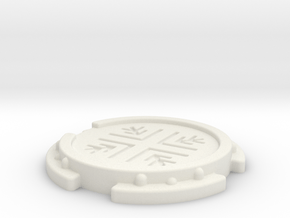 Sci-Fi Landing Pad (6mm Scale War Gaming) in White Natural Versatile Plastic