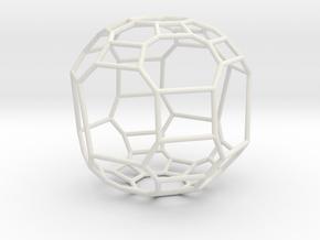 """Large """"irregular"""" polyhedron in White Natural Versatile Plastic"""
