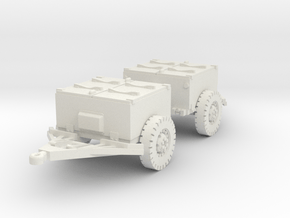 M8 armoured limber (2 pieces) scale 1/87 in White Natural Versatile Plastic