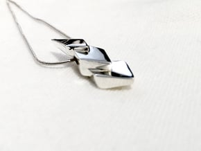 Hidden Hearts 101 ,pendant in Polished Silver