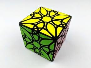 Mandala Cube in White Natural Versatile Plastic
