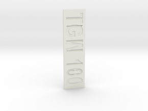 The Great War 100 in White Natural Versatile Plastic
