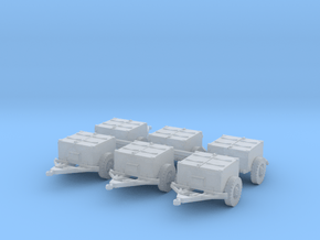 M8 armoured limber (6 pieces) 1/285 in Smoothest Fine Detail Plastic