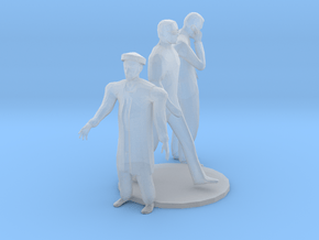 O Scale standing Men in Smooth Fine Detail Plastic