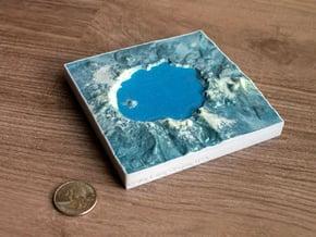 Crater Lake, Oregon, USA, 1:150000 Explorer in Natural Full Color Sandstone