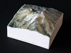 Mt. Shasta, California, USA, 1:100000 Explorer in Natural Full Color Sandstone