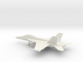 Boeing F/A-18F Super Hornet in White Natural Versatile Plastic: 1:160 - N