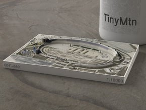 Texas Motor Speedway, Texas, 1:10000 in Natural Full Color Sandstone