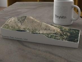 Quandary Peak, Colorado, USA, 1:25000 in Natural Full Color Sandstone