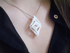 HEAD TO HEAD Unicat, Pendant  in White Processed Versatile Plastic