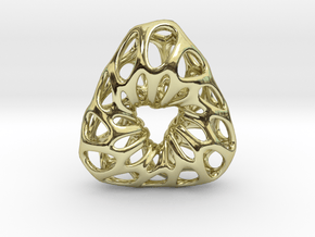 Prescious Structure Soft, Pendant. in 18K Gold Plated