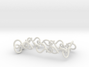 infinity necklace in White Natural Versatile Plastic