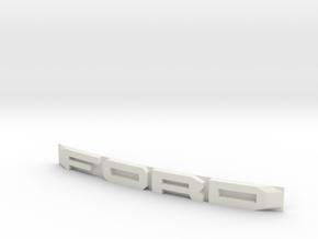 FORD badge front for Desert Runner RC4WD  in White Natural Versatile Plastic