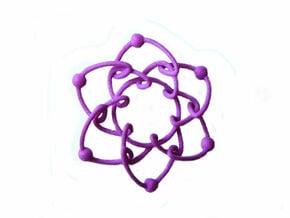 Daisychain in Purple Processed Versatile Plastic