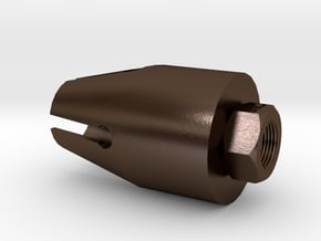 PDW 57 Flash Hider (14mm- Steel) in Polished Bronze Steel