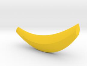Banana shape chopstick holder in Yellow Processed Versatile Plastic