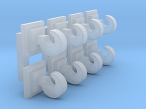 OO / HO Coupling Hooks x8 in Smooth Fine Detail Plastic