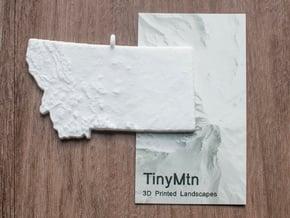 Montana Christmas Ornament in White Natural Versatile Plastic