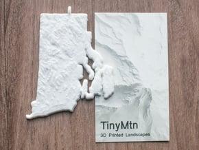 Rhode Island Christmas Ornament in White Natural Versatile Plastic