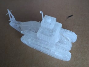 1/87th scale (H0) Renault Ft-17 Char TSF (radio) in Smooth Fine Detail Plastic