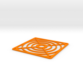 XL - Lüftergitter 80mm in Orange Processed Versatile Plastic
