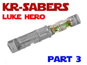 KR Luke Hero - Part3 Lightsaber Chassis in White Natural Versatile Plastic