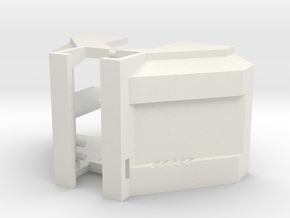 Toyworld Constructor - Deep Lat fillers in White Natural Versatile Plastic