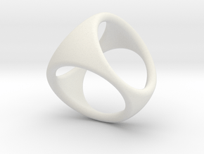 Blank D4 Shell Dice - Gen 2 in White Natural Versatile Plastic