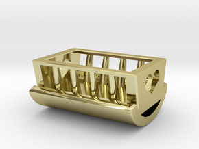 Cradle for Christmas/Baby in 18k Gold Plated Brass