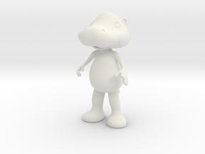 Hippopotamus in White Natural Versatile Plastic