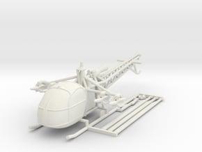 1/144 Alouette II with AS11 ATGM in White Natural Versatile Plastic