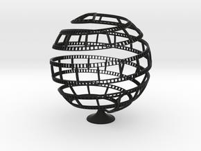 FILM TAPE GLOBE in Black Natural Versatile Plastic