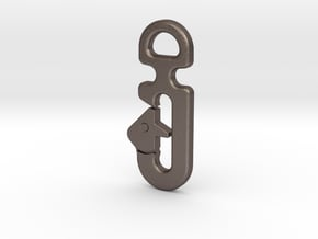 STATIC LINE HOOK UNIVERSAL in Polished Bronzed Silver Steel