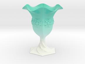 Cup Vase  in Glossy Full Color Sandstone