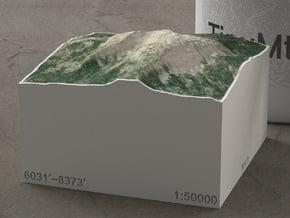 Mt. Bailey, Oregon, USA, 1:50000 Explorer in Natural Full Color Sandstone