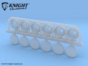 BR10015 6 Spot light bar in Smooth Fine Detail Plastic