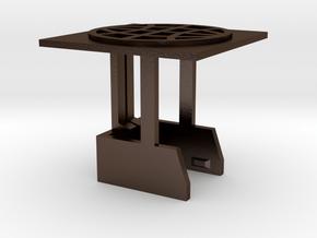 World in Polished Bronze Steel