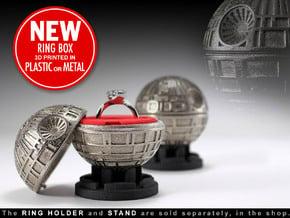 Black Star Ring Box - Proposal/Engagement Ring Box in White Processed Versatile Plastic