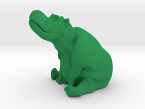 day dreaming hippo in Green Processed Versatile Plastic
