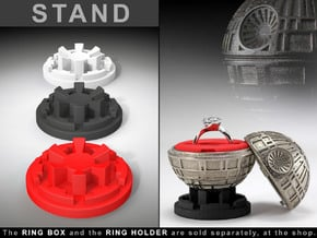 """STAND - To the """"Black Star Ring Box"""" in Black Natural Versatile Plastic"""