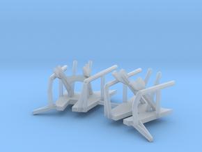 1/192 Bismarck Crane Storage Brackets Set in Smooth Fine Detail Plastic