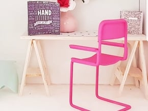 1:12 Chair complete 2 in Pink Processed Versatile Plastic